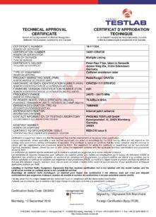 Industria 4.0: TITZE – Certificati UL/CSA per radar anticollisione serie CRAT